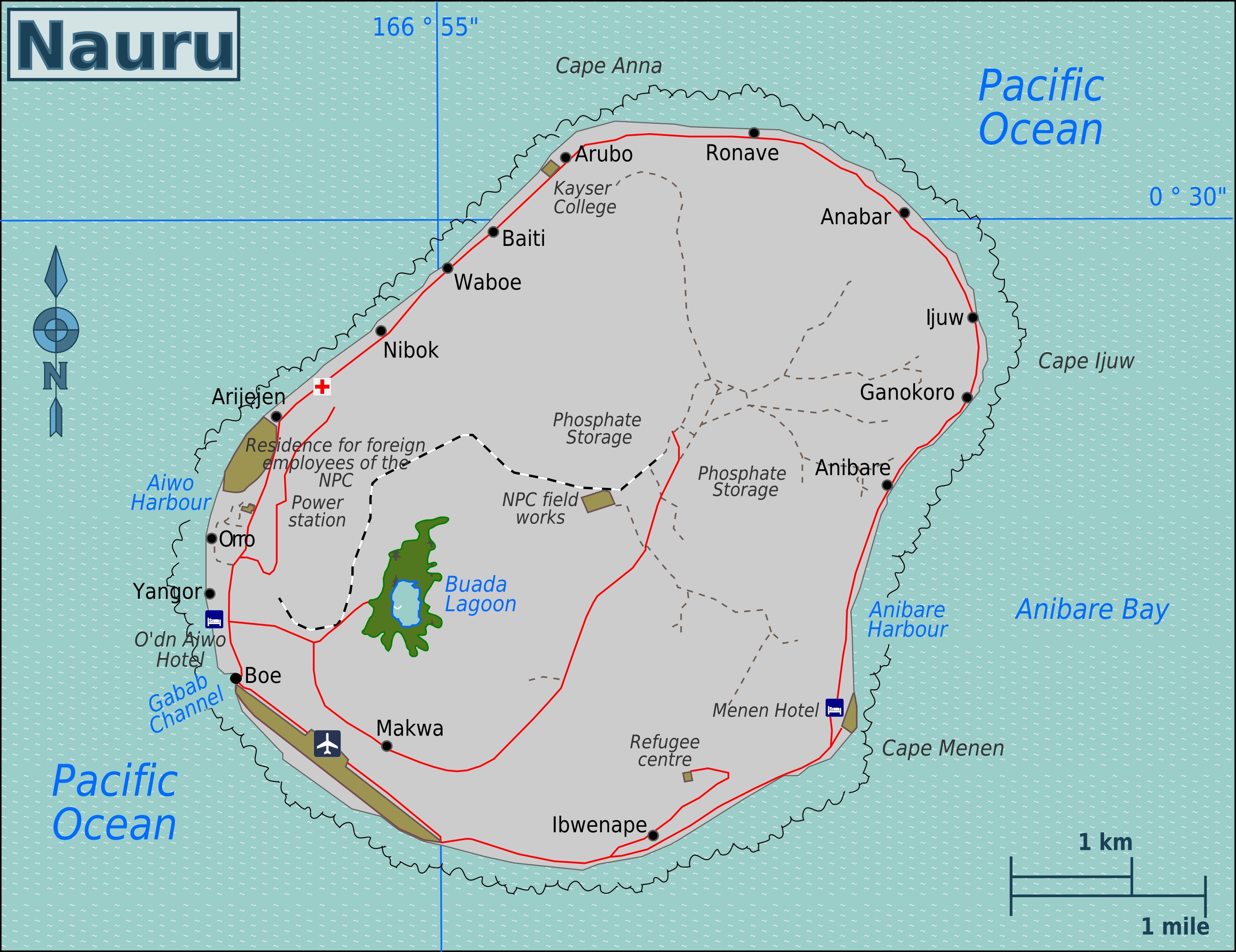Карта Науру