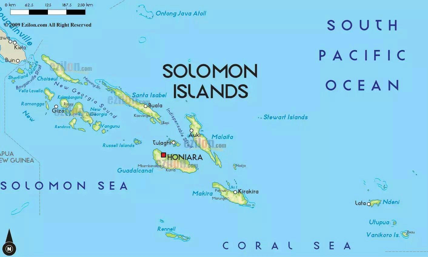 Карта Соломоновы Острова