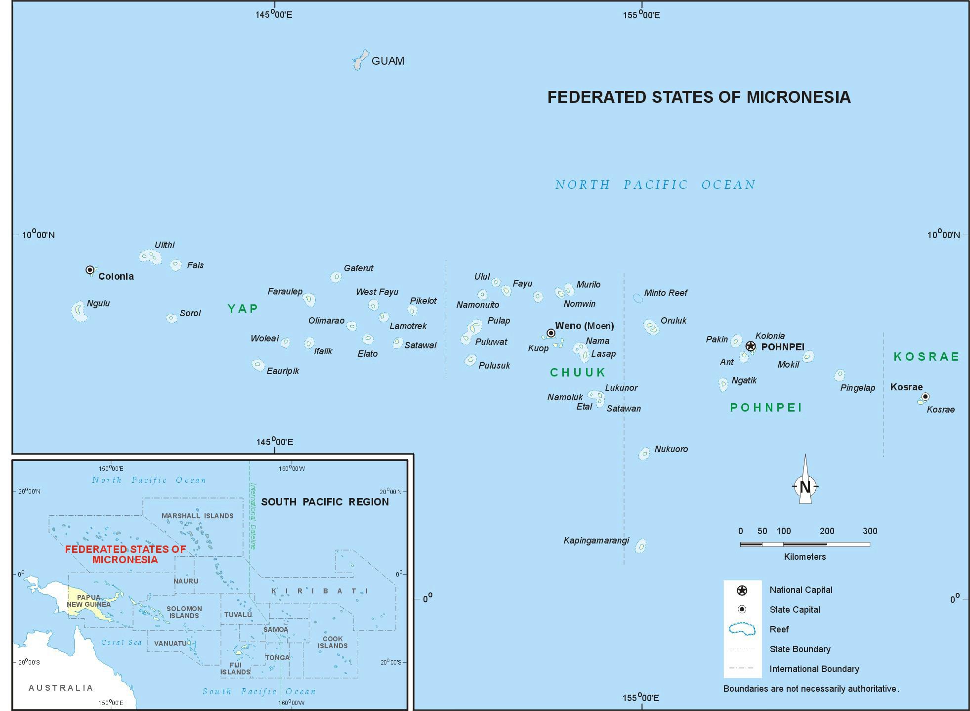 Карта Микронезия