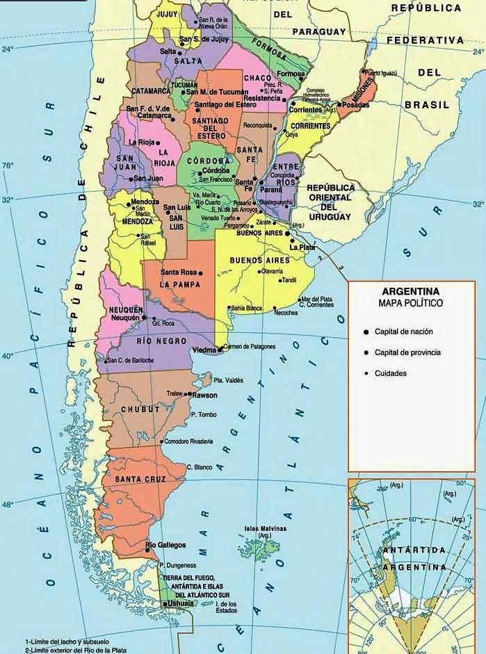 Административная карта Аргентины
